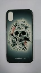 Чехол на Iphone X Skull&Rose